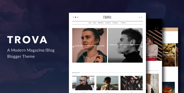 Trova - Modern Blog/Magazine Blogger Theme