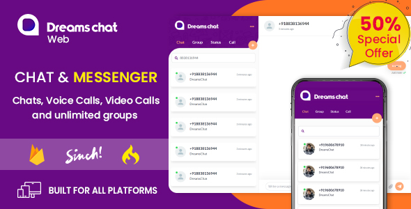 DreamsChat Web - Online chat scipt with Admin panel