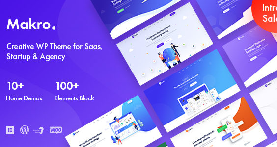 Makro - Creative WordPress Theme For Saas & Startup