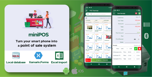 miniPOS - Mobile point of sale Android + iOS applications