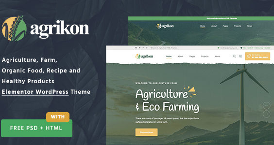 Agrikon - Organic Food & Agriculture WordPress Theme
