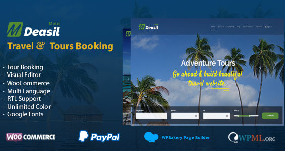 Deasil - Travel and Tour WordPress Theme