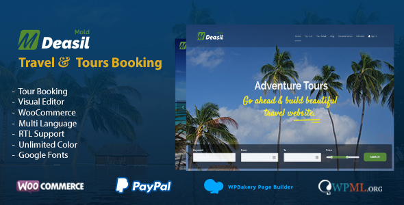 Deasil - Travel and Tour WordPress Theme