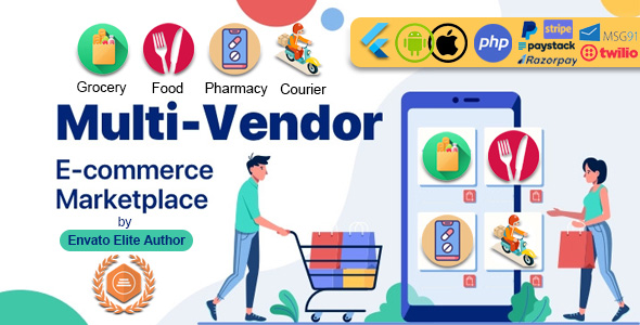 GoMarket | Food, Grocery, Pharmacy & Courier Delivery App | Multi-Vendor Marketplace