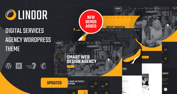 Linoor - Digital Agency Services WordPress Theme