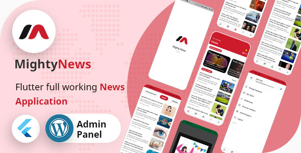 MightyNews - Flutter News App with Wordpress backend