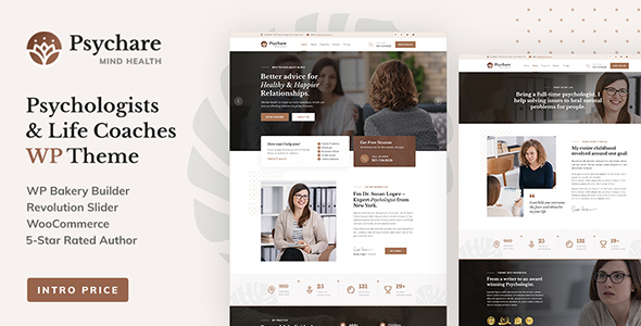 Psychare - WordPress Theme for Psychologists & Life Coaches