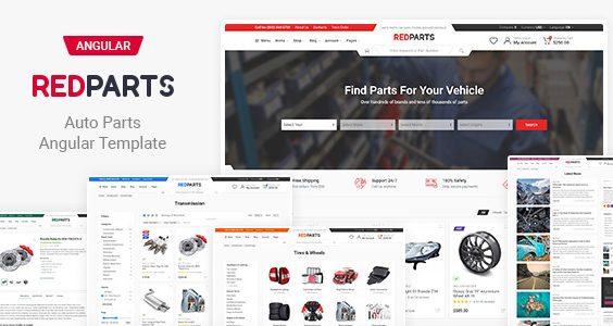 RedParts - Auto Parts Angular Template