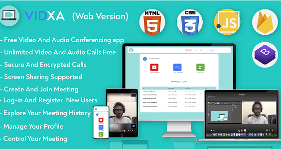 Vidxa (WEB)- Free Video Conferencing  for Live Class, Meeting, Webinar, Online Training