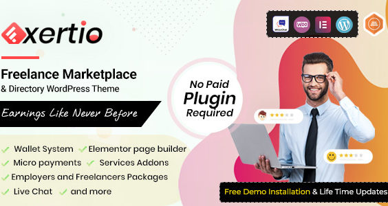 Exertio - Freelance Marketplace WordPress Theme