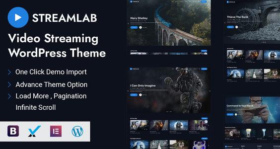 Streamlab - Video Streaming WordPress Theme