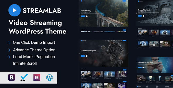 Streamlab - Video Streaming WordPress Theme