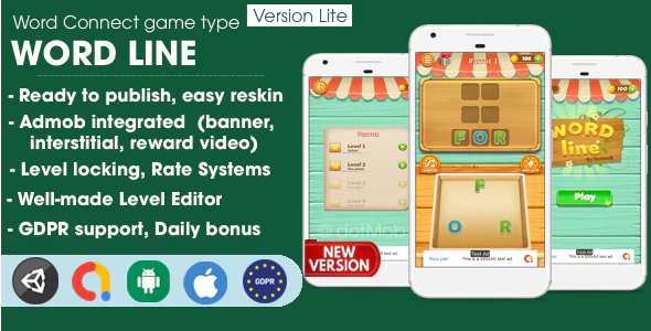 ANDROID Word Line - Unity Template Project