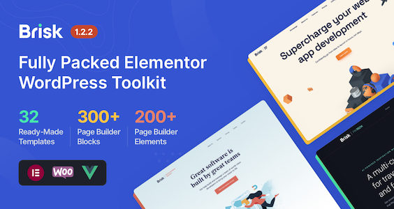 Brisk - Multi-Purpose Elementor WordPress Theme