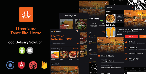 HomeChef - Multi Restaurant Food Delivery App | Ionic