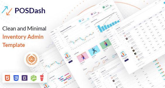 POSDash | VueJS, HTML Inventory Admin Template