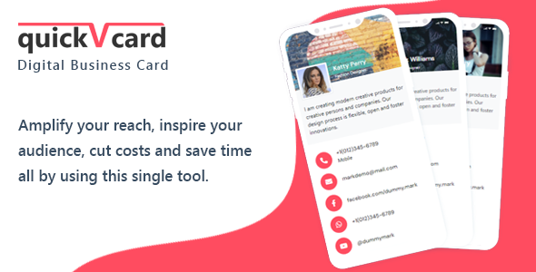 QuickVCard - Digital Business Card SaaS PHP Script
