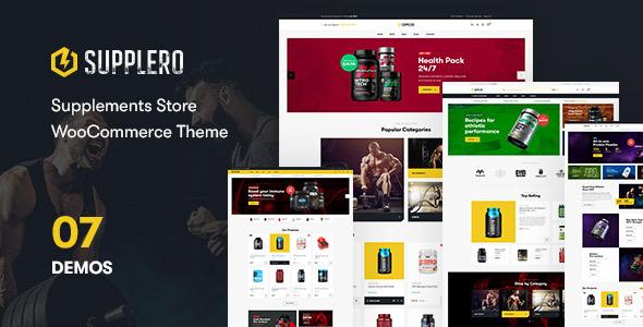 Supplero - Supplement Store WooCommerce Theme
