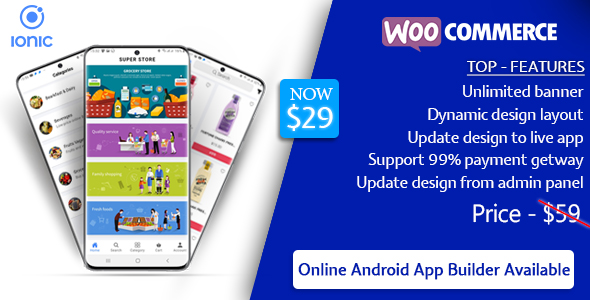 Quick Order ionic 5 mobile app for woocommerce with multivendor features