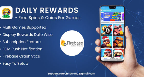 Daily Rewards - Free Spins & Coins For Games