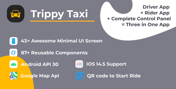 Trippy Taxi React Native Complete Taxi App