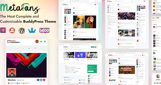 MetaFans - Community BuddyPress Theme