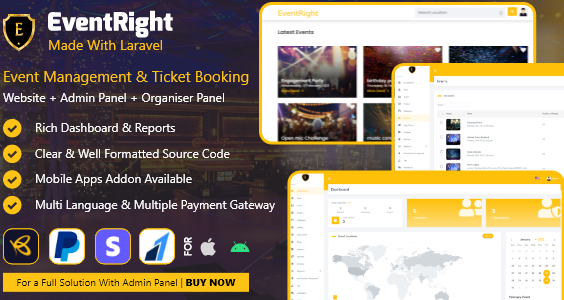 EventRight - Ticket Sales and Event Booking & Management System - (saas)