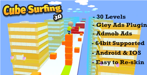Cube Surfing 3d - Complete Unity Template