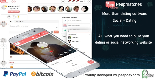 Download Peepmatches - The ultimate php dating and social