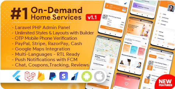 On-Demand Home Service Handyman Booking App