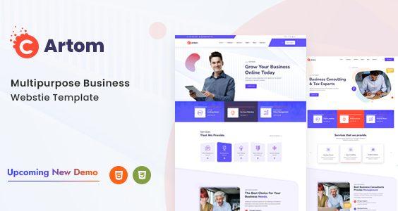 Artom - Modern & Multipurpose HTML Templat