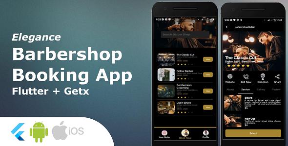 Barbershop Booking App - Full Flutter Application