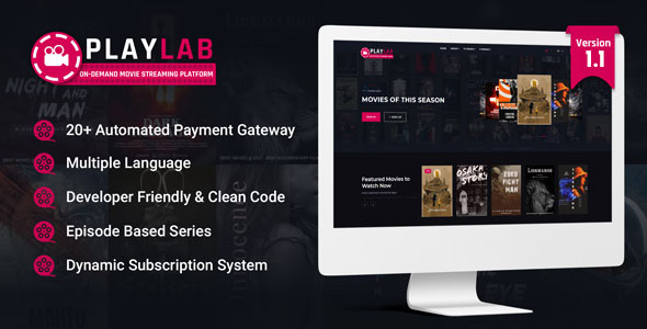 PlayLab - On Demand Movie Streaming Platform