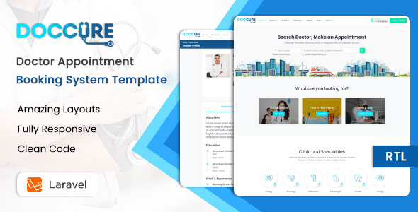 Doccure - Doctor Appointment Booking Management Directory System Template (Practo Clone) (Laravel)