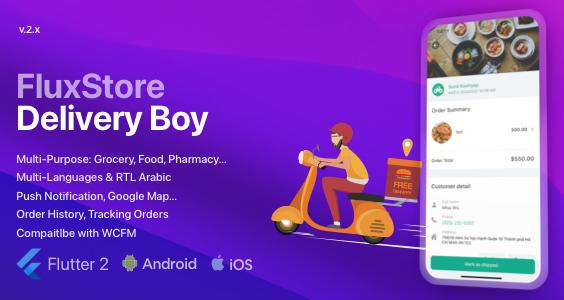 FluxStore Delivery Boy - Flutter App for Woocommerce