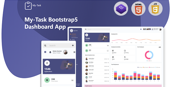 Mytask - Hr, Project Management Admin Template