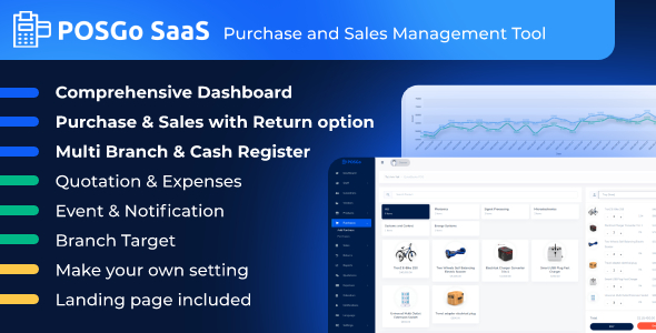 POSGo SaaS - Purchase and Sales Management Tool