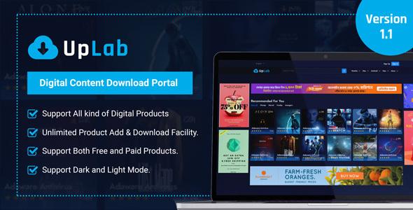 UpLab - Digital Content Download Portal