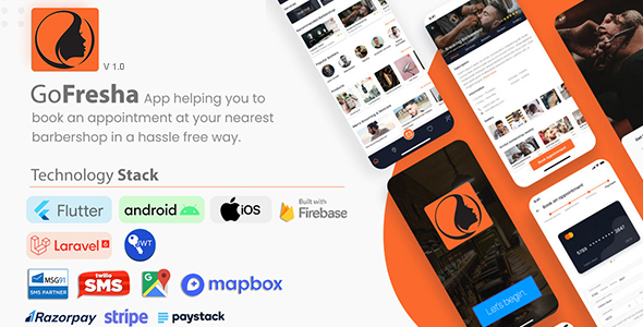 GoFresha | Nearby Salon, Spa & Barber Appointment Flutter App | Backend Included